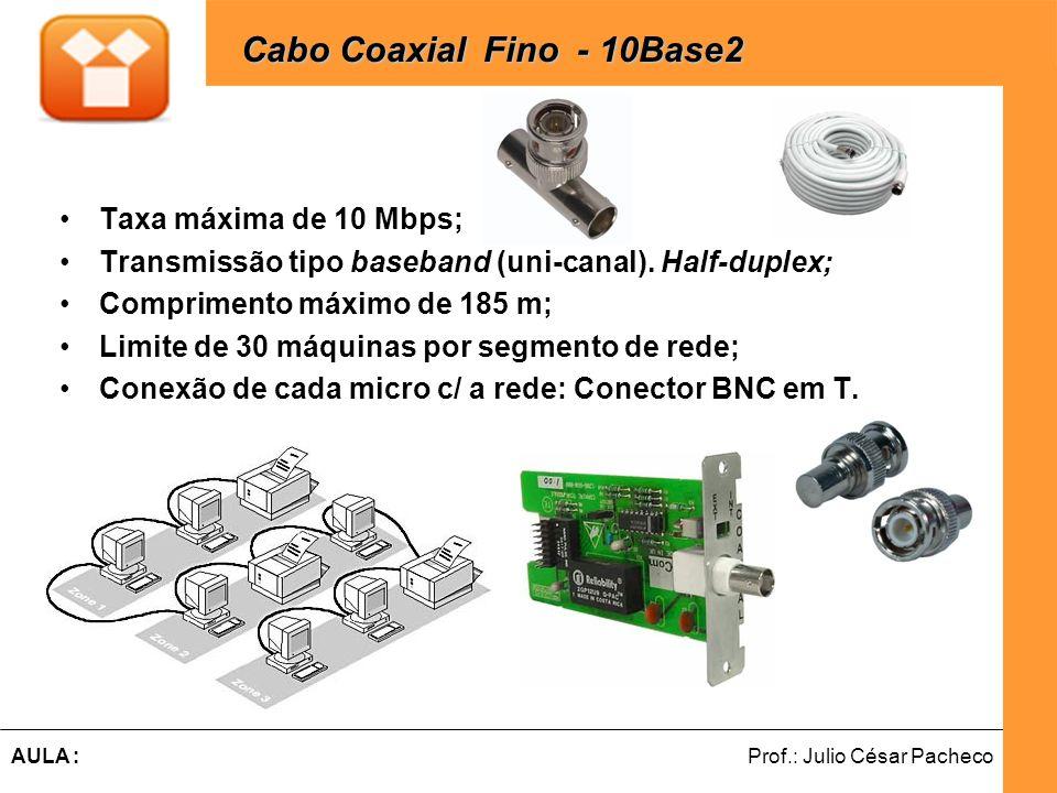 Cabo Coaxial Fino - 10Base2