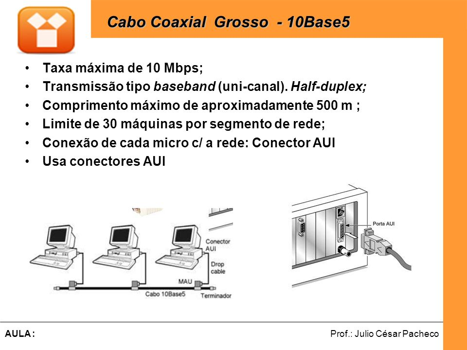 Cabo Coaxial Grosso - 10Base5