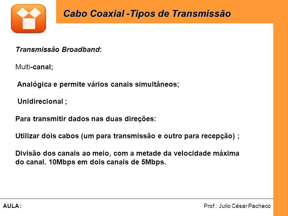 Cabo Coaxial -Tipos de Transmissão