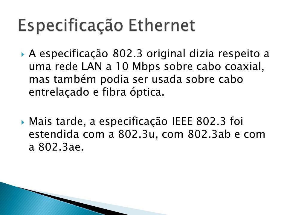 Especificação Ethernet