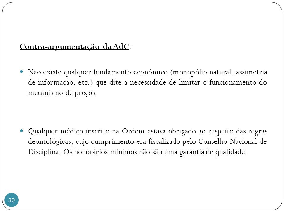 Contra-argumentação da AdC: