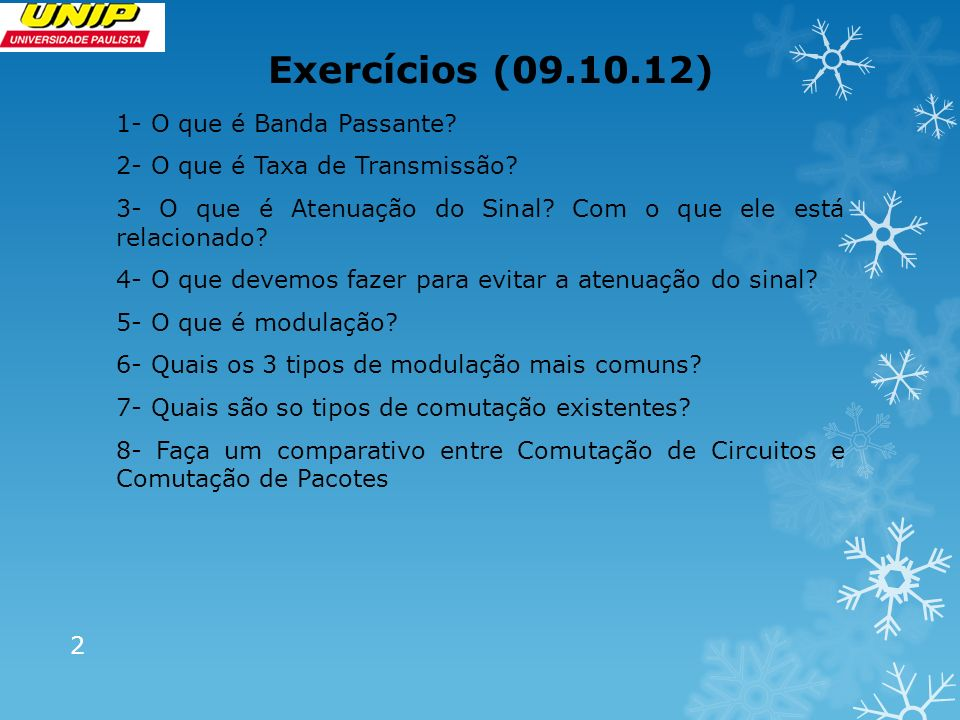 Exercícios (09.10.12)
