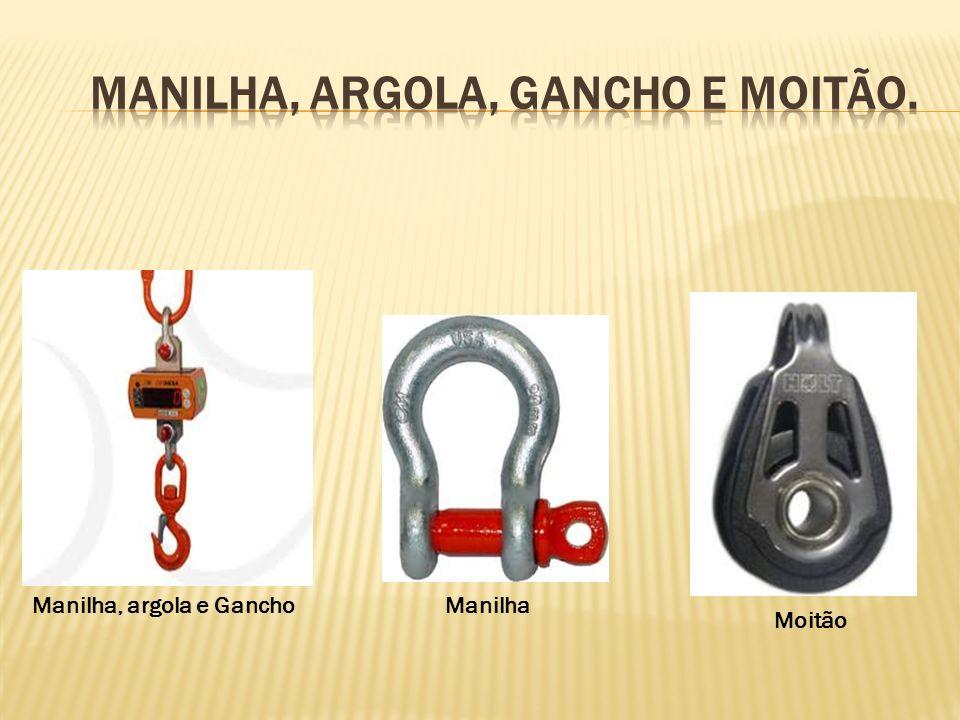 MANILHA, ARGOLA, GANCHO E MOITÃO.