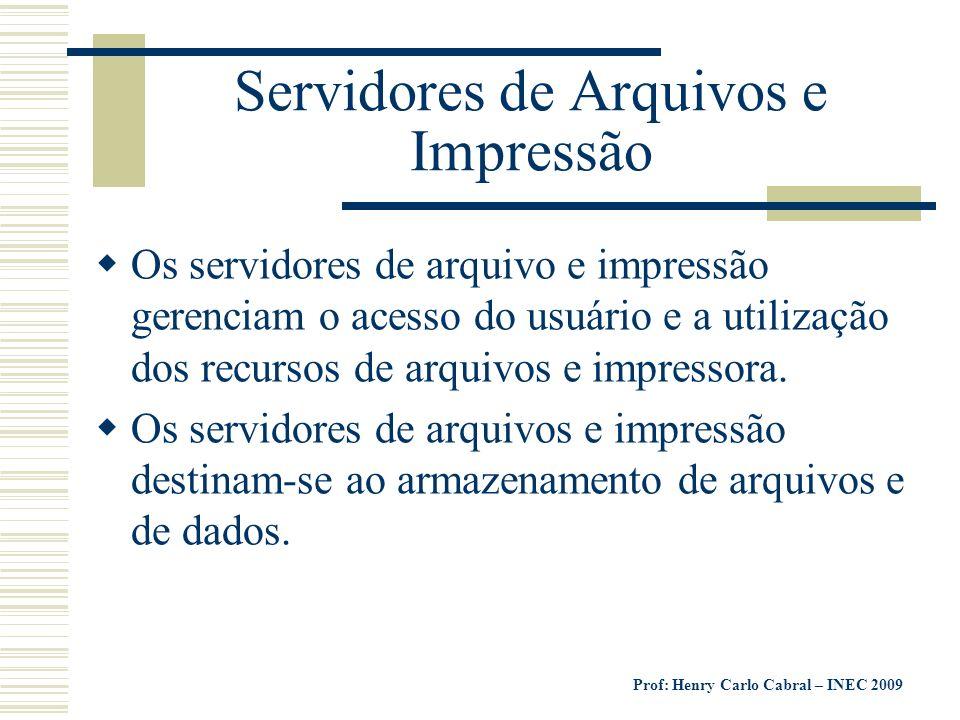 Servidores de Arquivos e Impressão