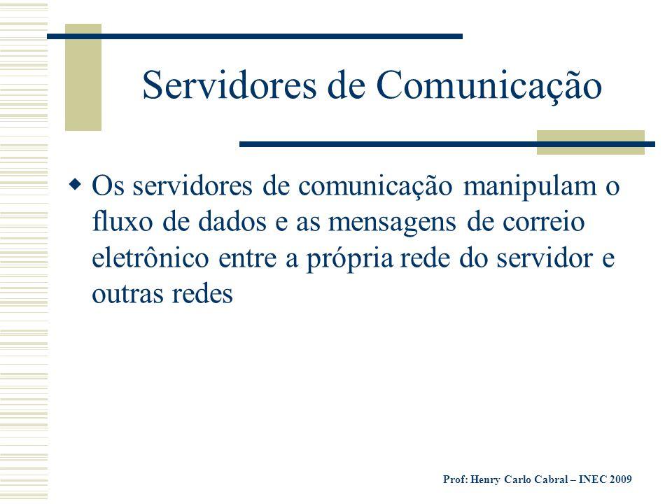 Servidores de Comunicação