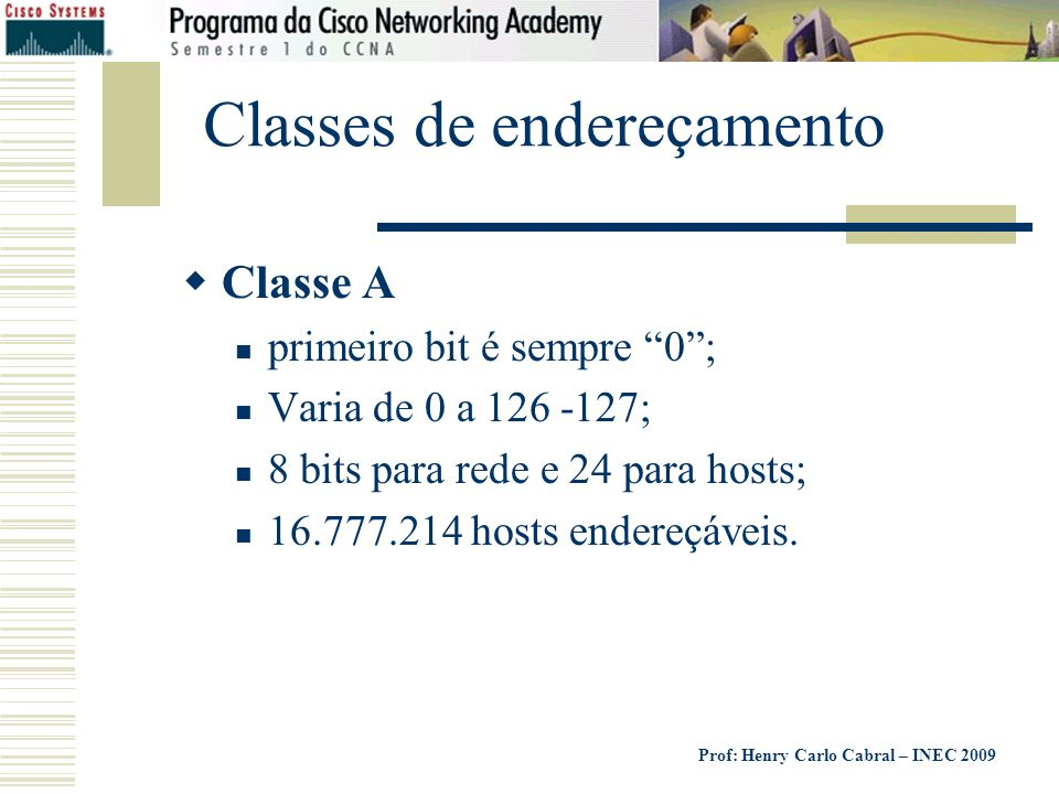 Classes de endereçamento