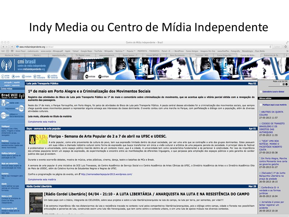Indy Media ou Centro de Mídia Independente