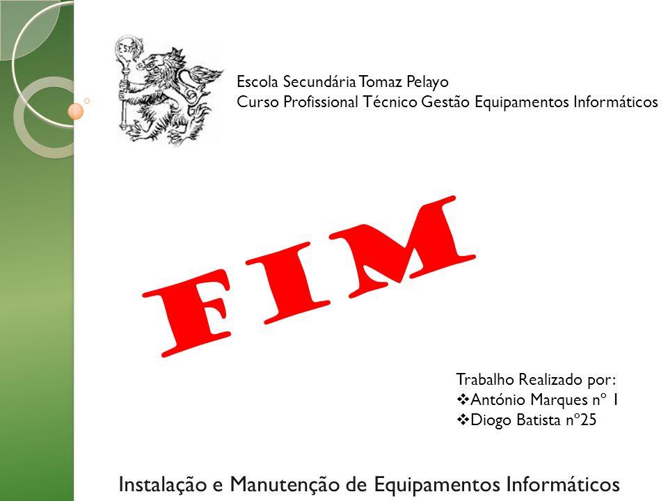 Instalação e Manutenção de Equipamentos Informáticos