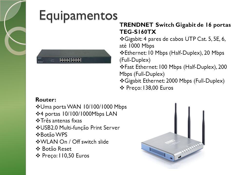 Equipamentos TRENDNET Switch Gigabit de 16 portas TEG-S160TX