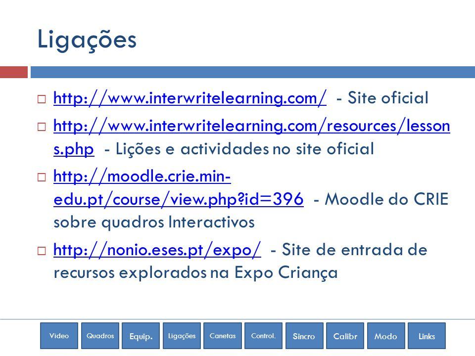 Ligações http://www.interwritelearning.com/ - Site oficial