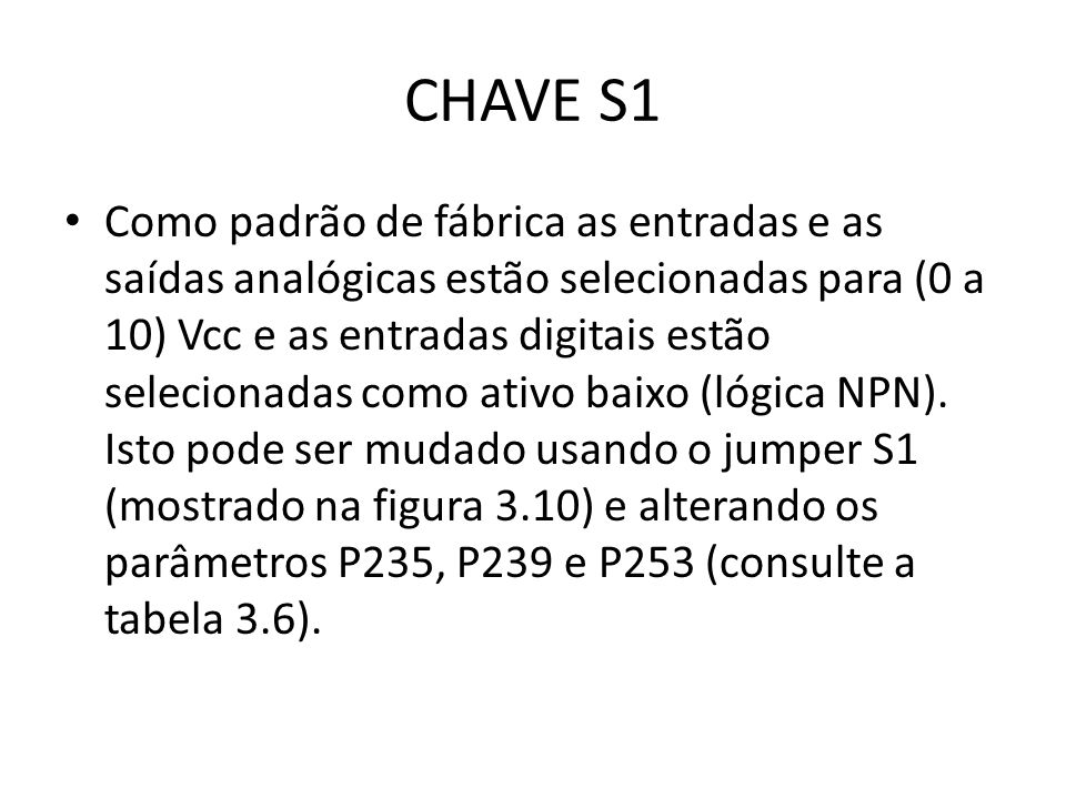 CHAVE S1