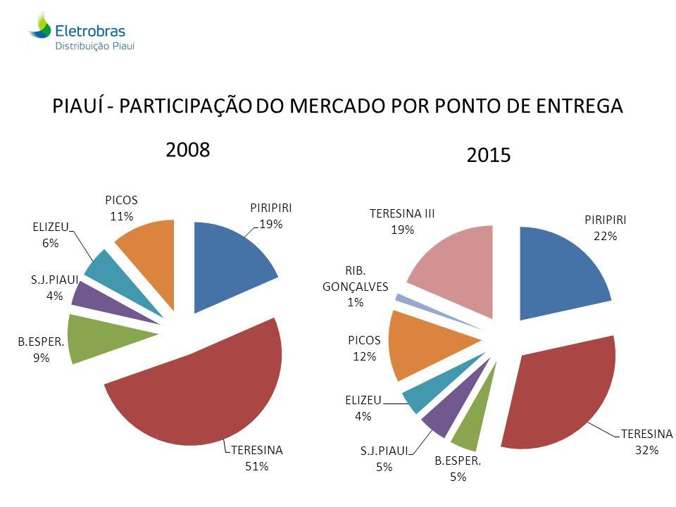 PIAUÍ - PARTICIPAÇÃO DO MERCADO POR PONTO DE ENTREGA