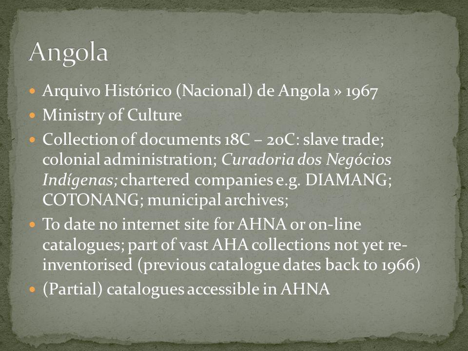 Angola Arquivo Histórico (Nacional) de Angola » 1967