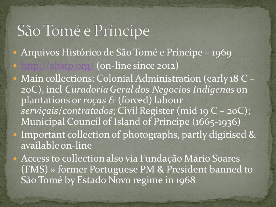 São Tomé e Príncipe Arquivos Histórico de São Tomé e Príncipe – 1969