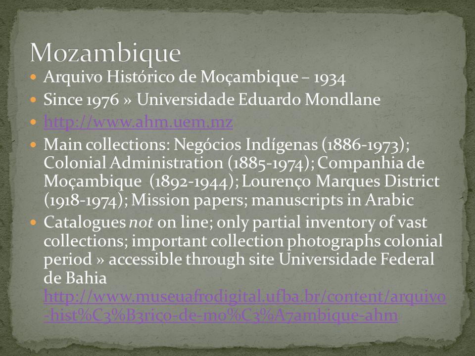 Mozambique Arquivo Histórico de Moçambique – 1934