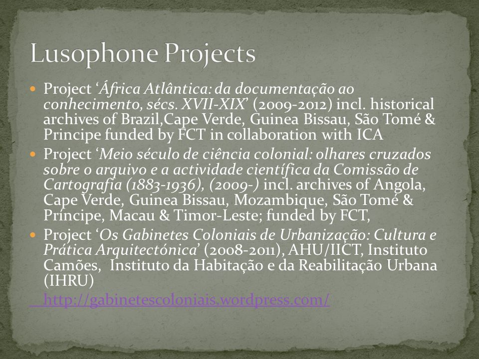 Lusophone Projects