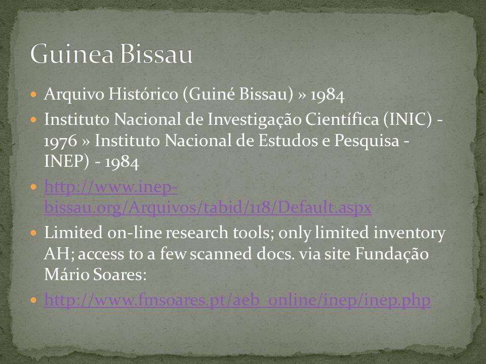 Guinea Bissau Arquivo Histórico (Guiné Bissau) » 1984