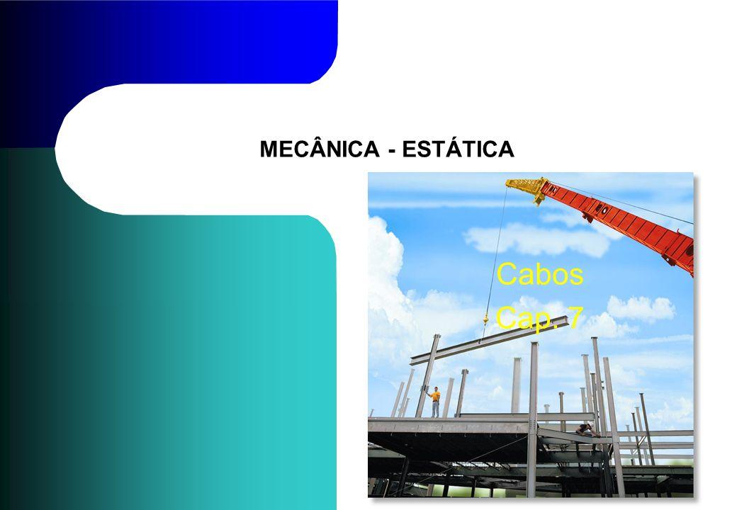 MECÂNICA - ESTÁTICA Cabos Cap. 7