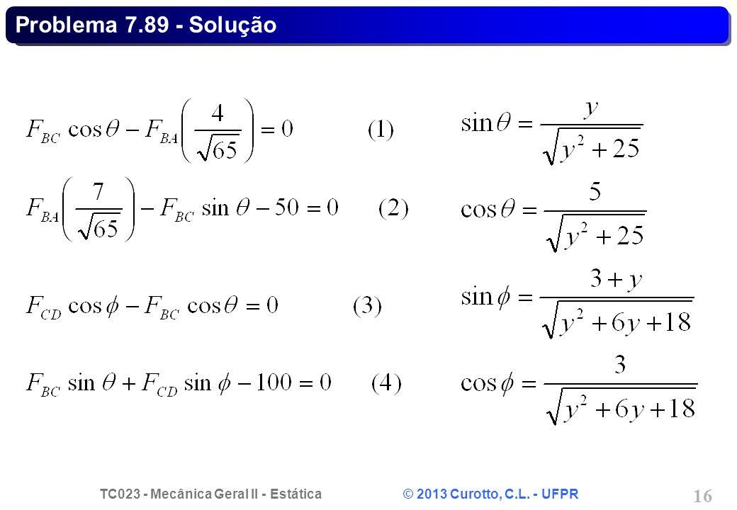Problema 7.89 - Solução