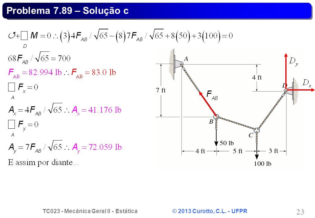 Problema 7.89 – Solução c