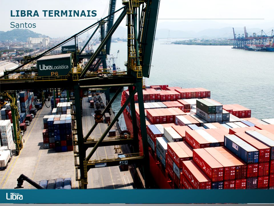 LIBRA TERMINAIS Santos Tratar logo do portêiner.