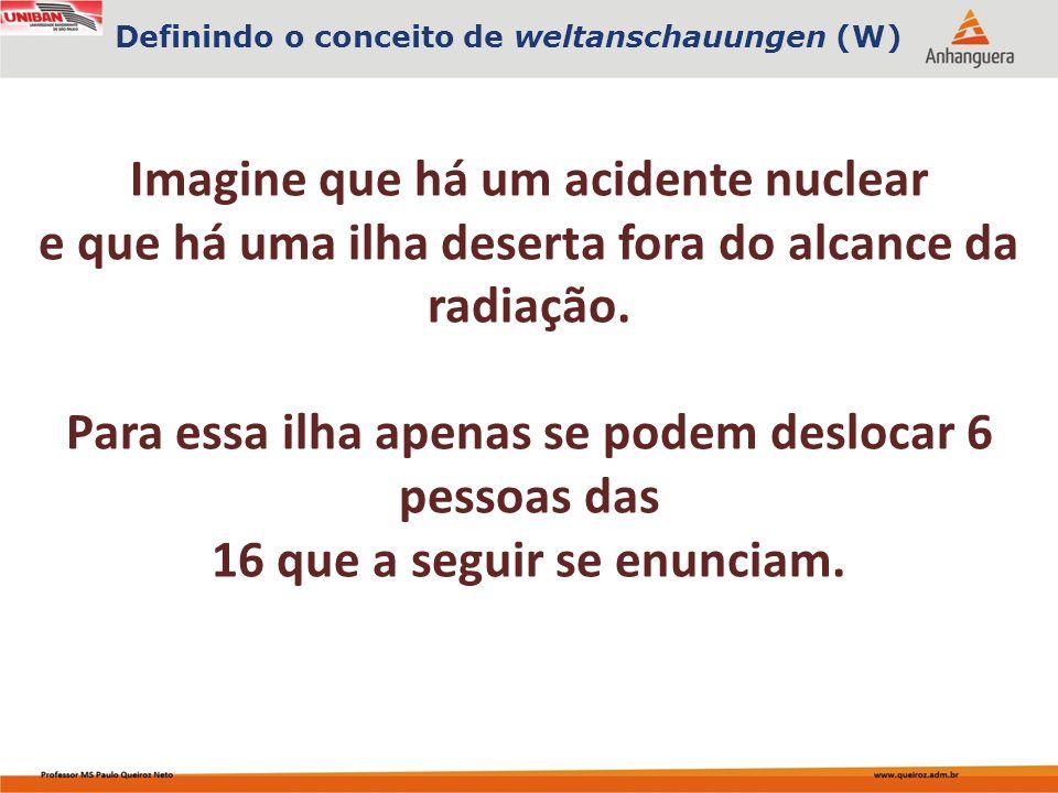 Imagine que há um acidente nuclear