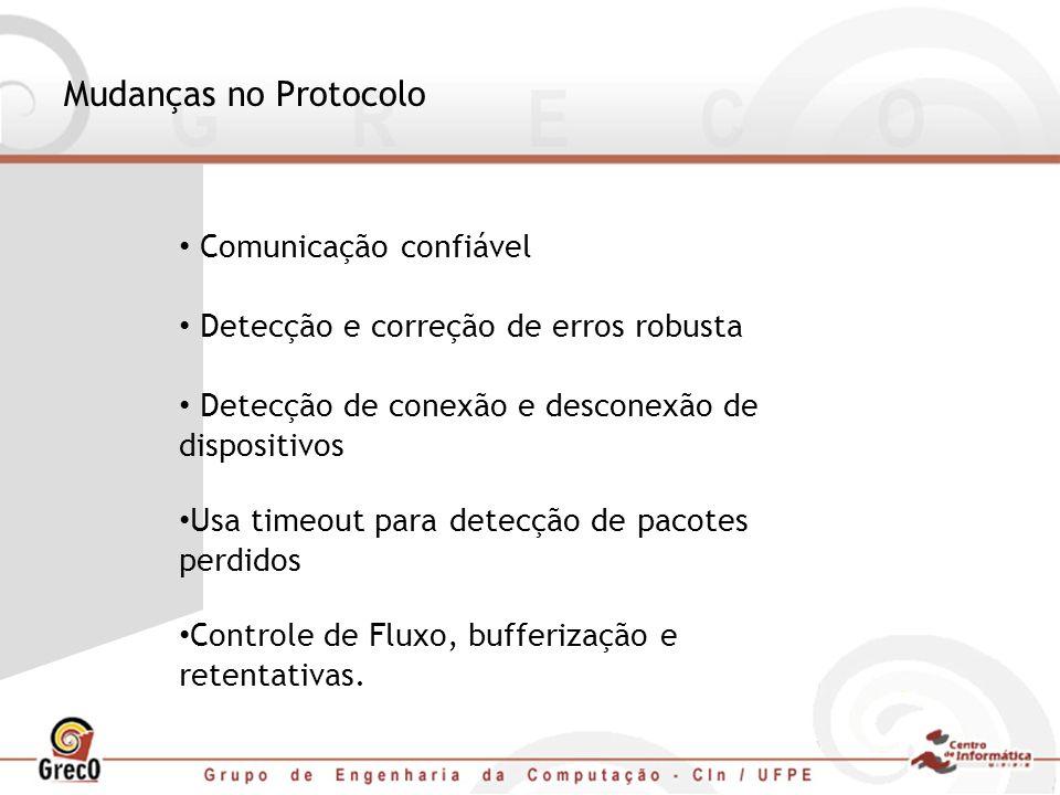 Mudanças no Protocolo Comunicação confiável