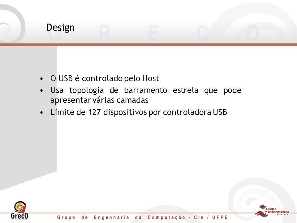 Design O USB é controlado pelo Host