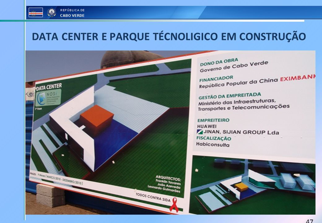 DATA CENTER E PARQUE TÉCNOLIGICO EM CONSTRUÇÃO