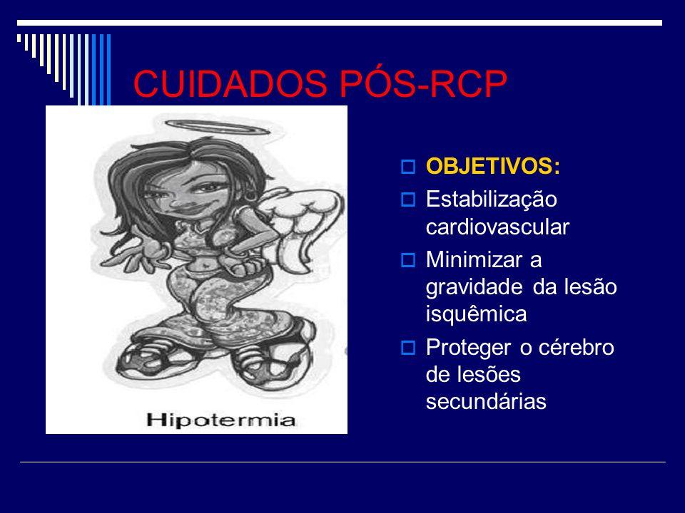 CUIDADOS PÓS-RCP OBJETIVOS: Estabilização cardiovascular