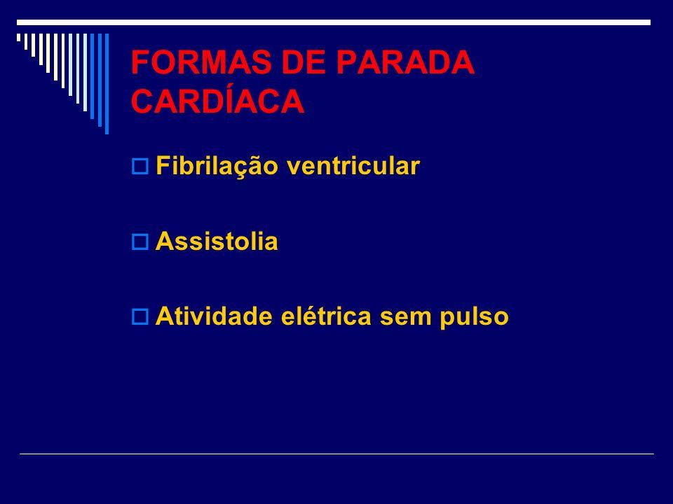 FORMAS DE PARADA CARDÍACA