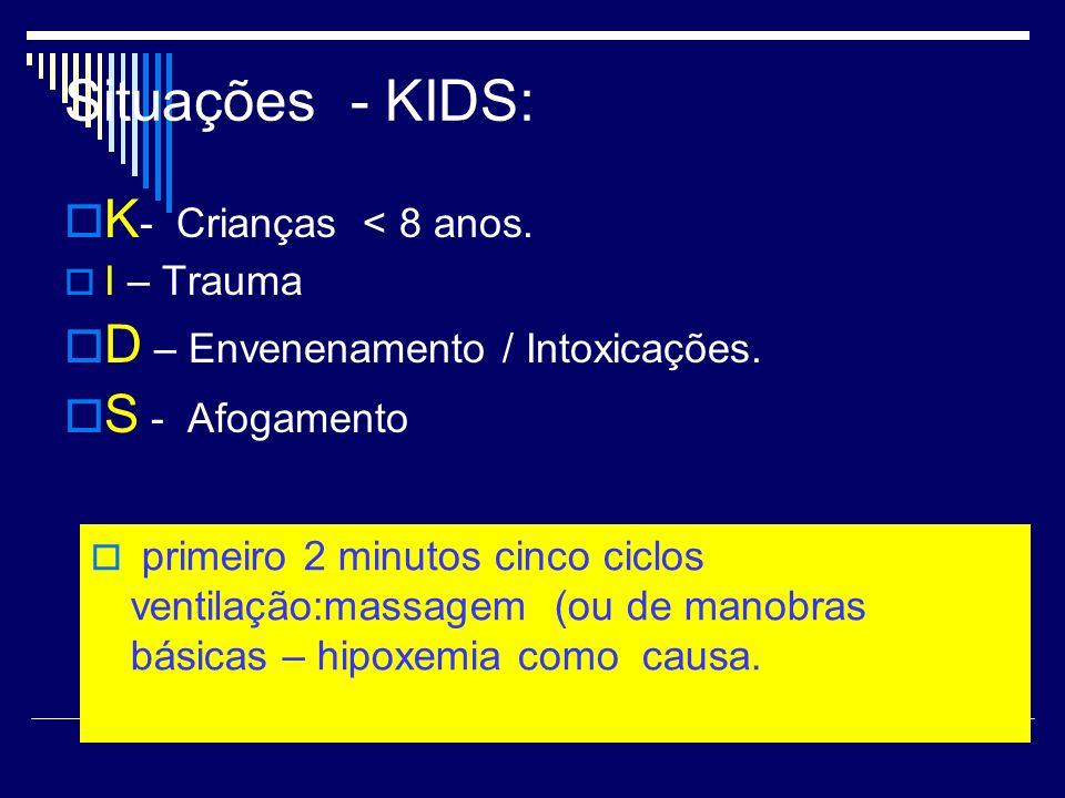 Situações - KIDS: K- Crianças < 8 anos.