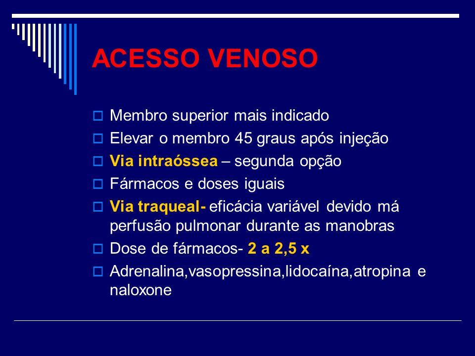 ACESSO VENOSO Membro superior mais indicado