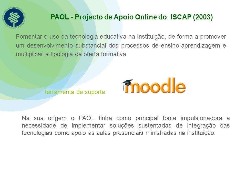 PAOL - Projecto de Apoio Online do ISCAP (2003)