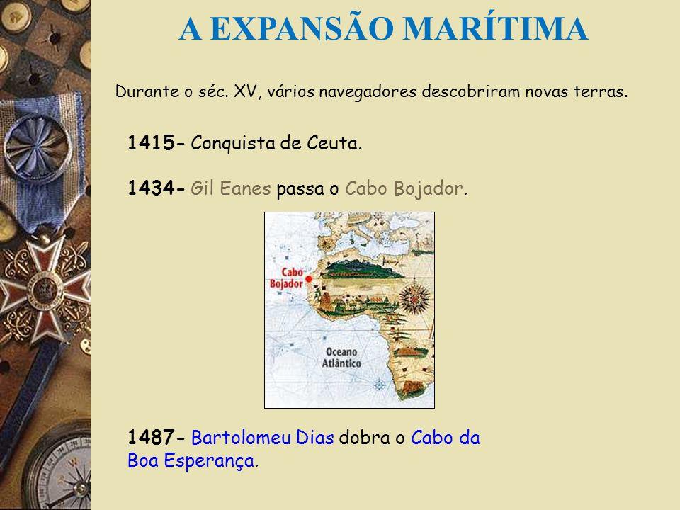 A EXPANSÃO MARÍTIMA 1415- Conquista de Ceuta.