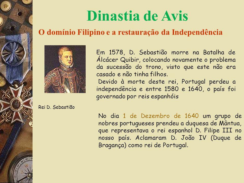 O domínio Filipino e a restauração da Independência