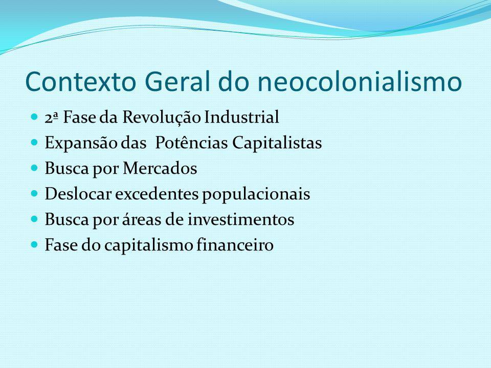 Contexto Geral do neocolonialismo