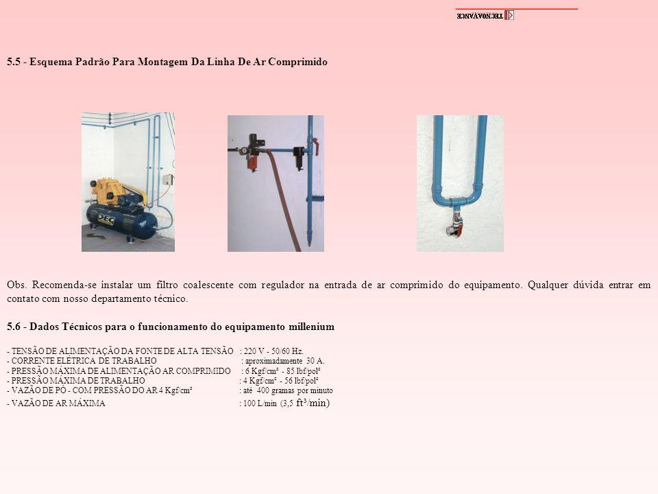 5.5 - Esquema Padrão Para Montagem Da Linha De Ar Comprimido