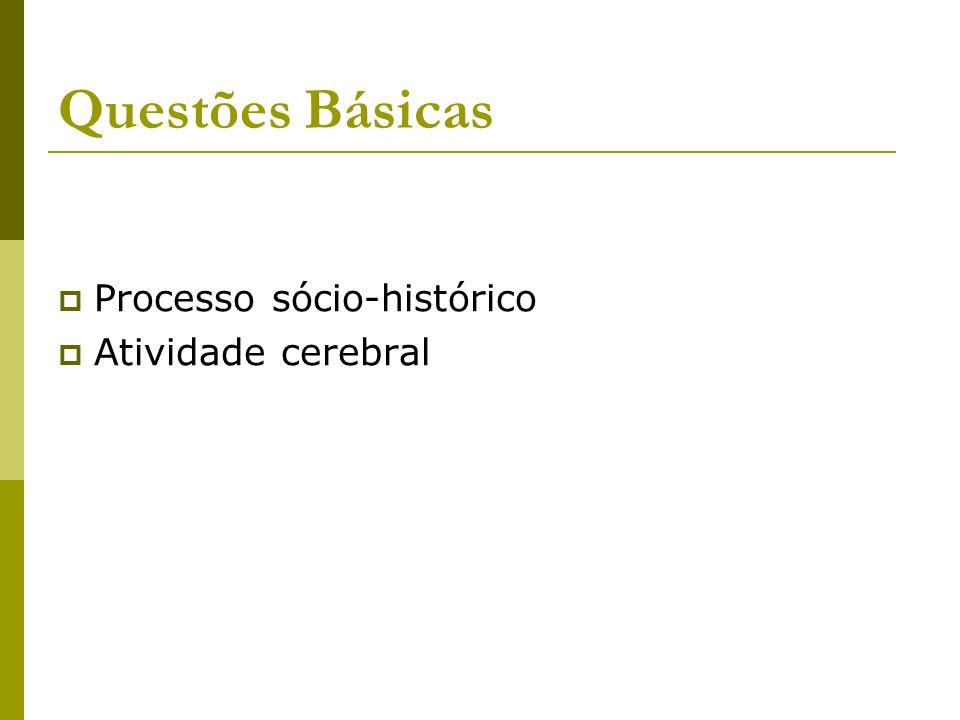 Questões Básicas Processo sócio-histórico Atividade cerebral