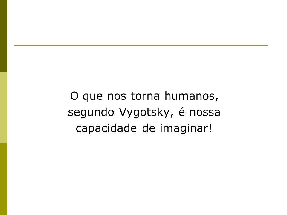 segundo Vygotsky, é nossa capacidade de imaginar!