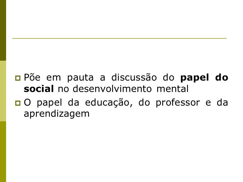 Põe em pauta a discussão do papel do social no desenvolvimento mental