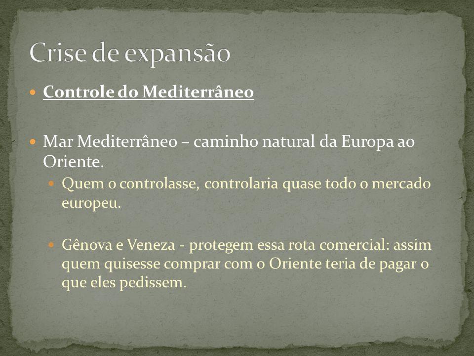 Crise de expansão Controle do Mediterrâneo