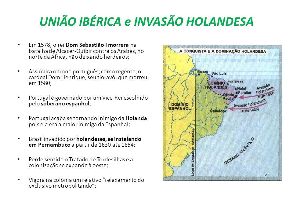 UNIÃO IBÉRICA e INVASÃO HOLANDESA