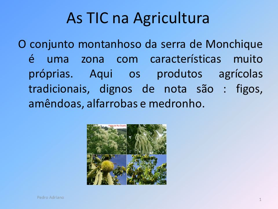 As TIC na Agricultura