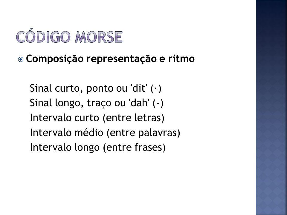 Código Morse Composição representação e ritmo