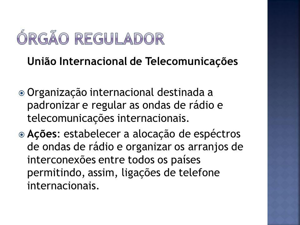Órgão regulador União Internacional de Telecomunicações