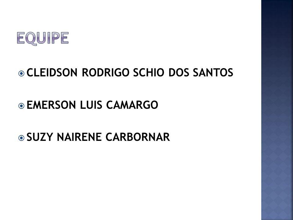 Equipe CLEIDSON RODRIGO SCHIO DOS SANTOS EMERSON LUIS CAMARGO