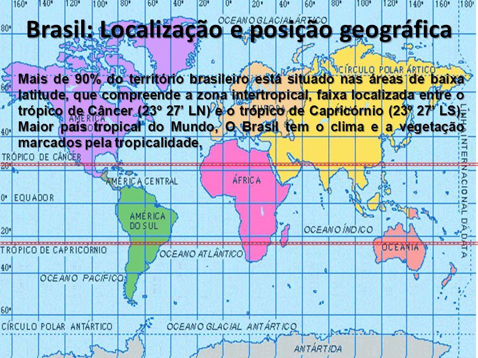 Brasil: Localização e posição geográfica