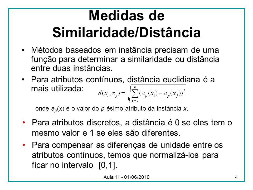 Medidas de Similaridade/Distância