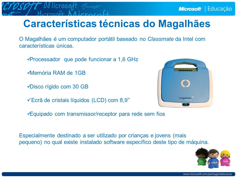 Características técnicas do Magalhães